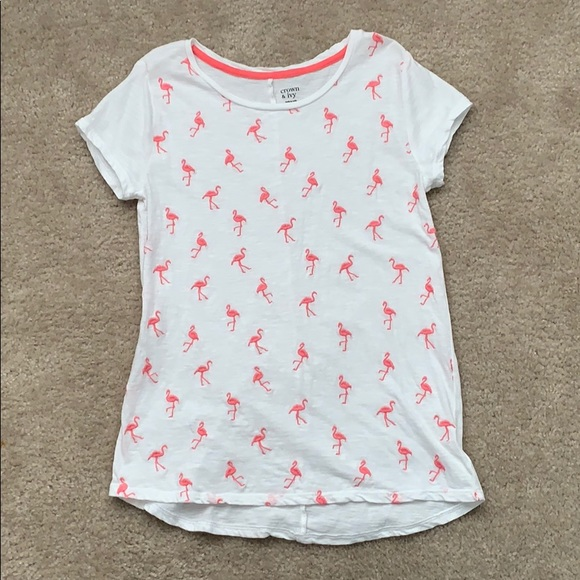d2d3b2982 crown & ivy Shirts & Tops   Girls Flamingo Shirt   Poshmark